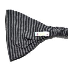Bandeau à cheveux noir, gris