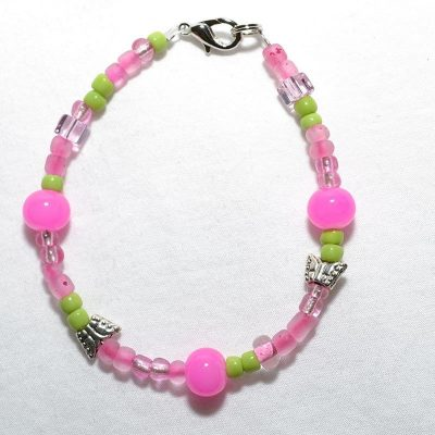Bracelet junior fille rose