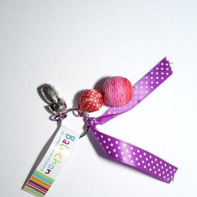 Porte-clés rose poupée russe