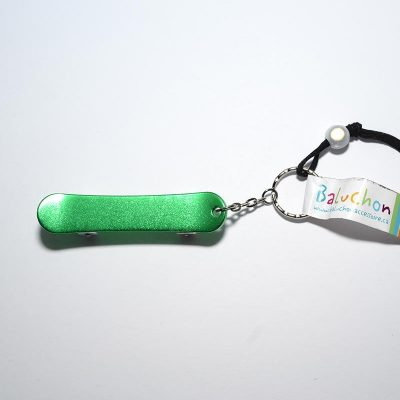 Porte-clés skate board vert