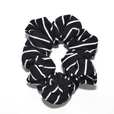 Élastique à cheveux noir et blanc