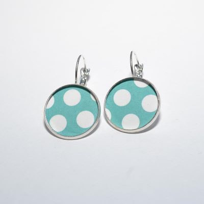 Boucle d'oreille dame turquoise