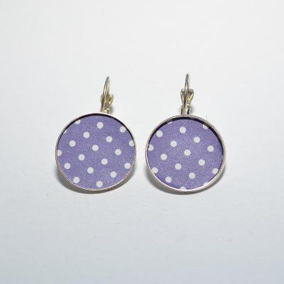 Boucle d'oreille dame violet