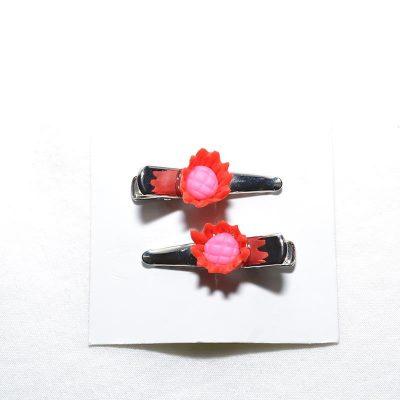Barette crocro tournesol rouge