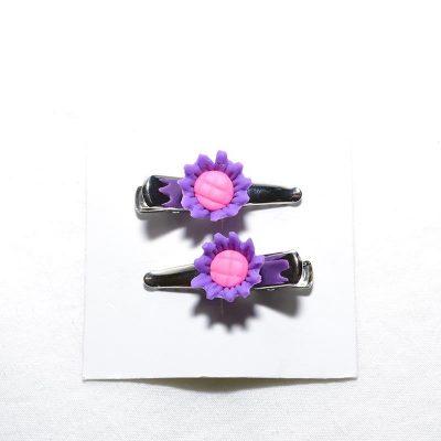 Barette crocro tournesol violet
