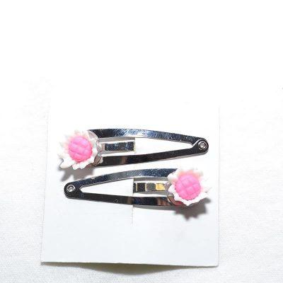 Barette clip tournesol blanc