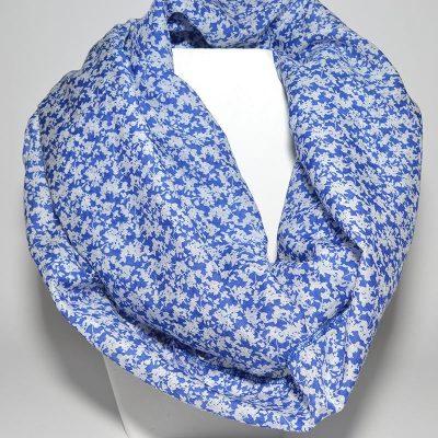 Foulard tube bleu