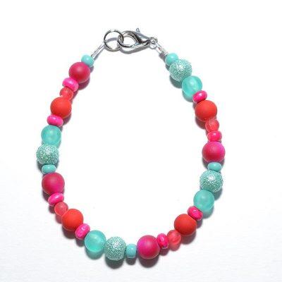 Bracelet enfant fille turquoise