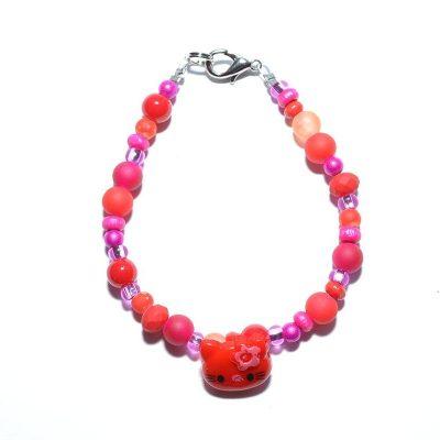 Bracelet enfant fille rouge