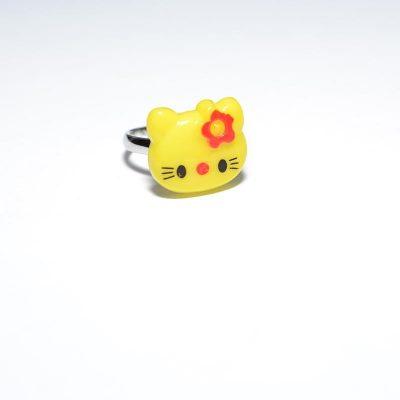 Bague enfant Hello Kitty jaune