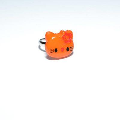 Bague enfant Hello Kitty orange