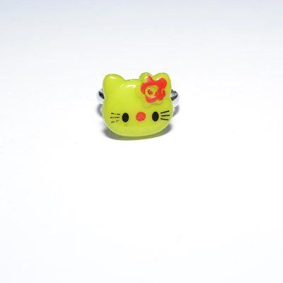 Bague enfant Hello Kitty vert