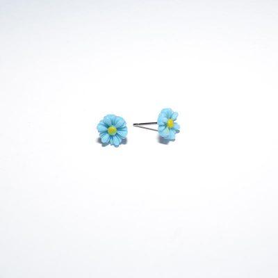 Boucle d'oreille enfant mini marguerite bleu