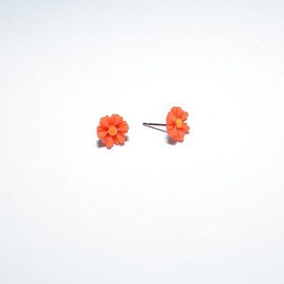 Boucle d'oreille enfant mini marguerite orange