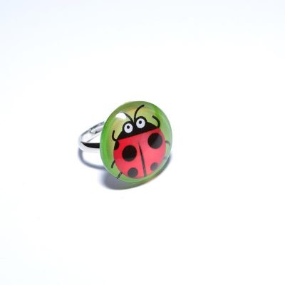 Bague junior fille coccinelle
