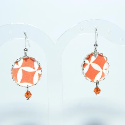 Boucle d'oreille orange