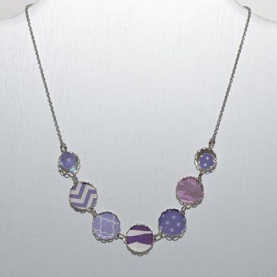 Collier dame violet