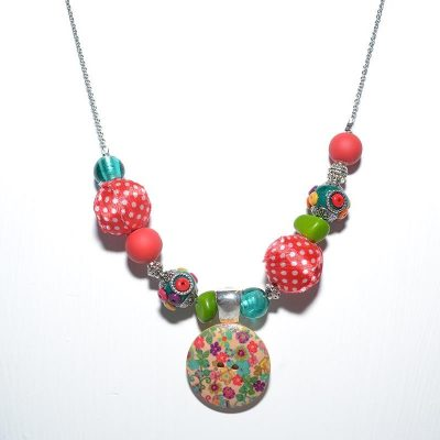 Collier dame bouton