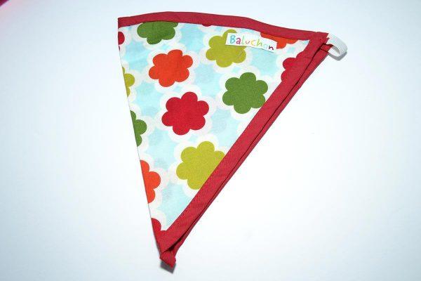 Bandeau triangle cheveux fleurs rouge vert
