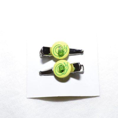 Barrette crocro escargot vert lime