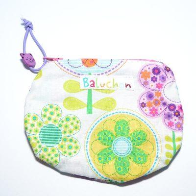 Sac mini cosmétique ou porte-monnaie fleurs moyennes