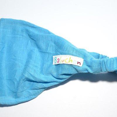 Bandeau cheveux turquoise bleu