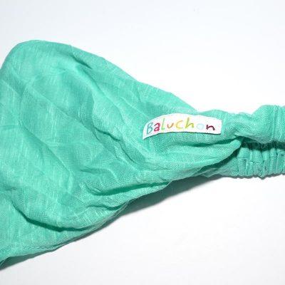 Bandeau cheveux turquoise-vert