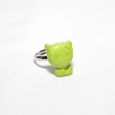 Bague enfant petit chas vert