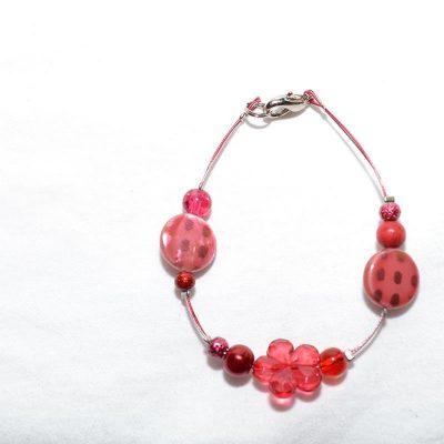 Bracelet junior fille rouge