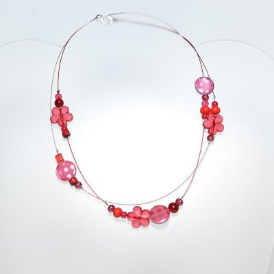 Collier junior fille rouge