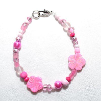 Bracelet enfant fille rose