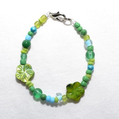Bracelet enfant fille vert