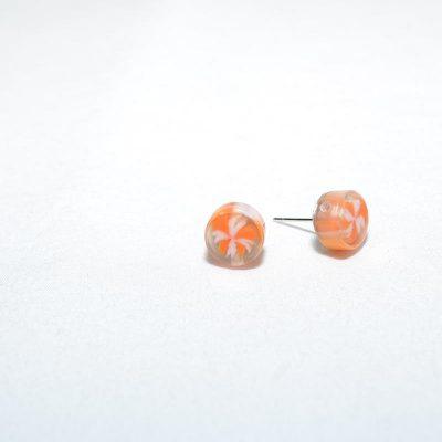 Boucle d'oreille bonbon orange