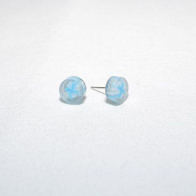 Boucle d'oreille bonbon turquoise