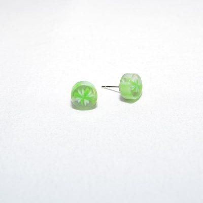 Boucle d'oreille bonbon vert