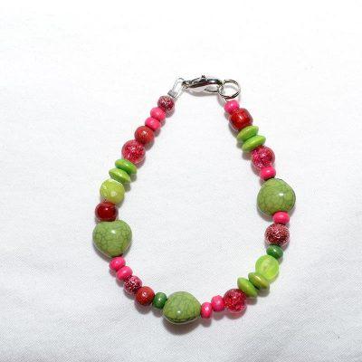 Bracelet enfant fille assortis vert