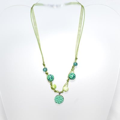 Collier junior fille rose vintage turquoise