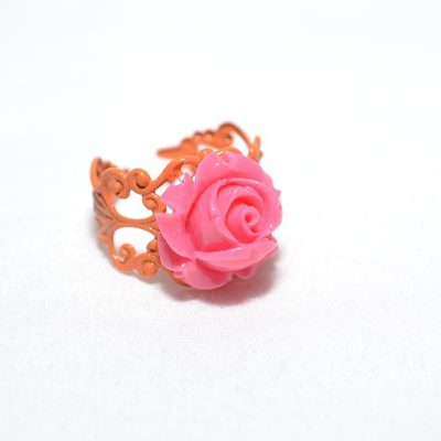 Bague junior fille rose corail