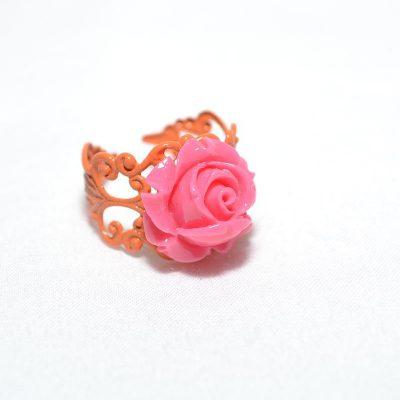 Bague junior fille rose corail