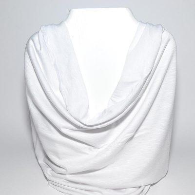 Foulard tube blanc