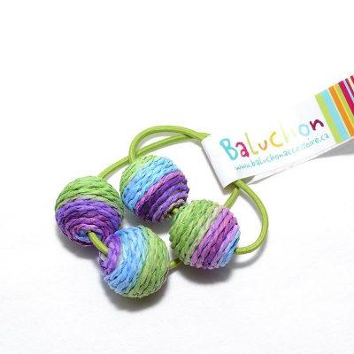 Élastique à cheveux vert-violet